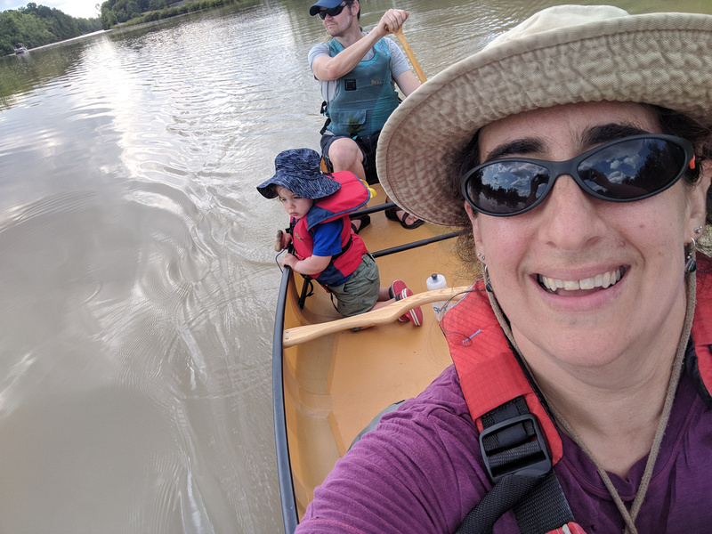 Family Canoe Selfies