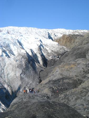 glacier-side